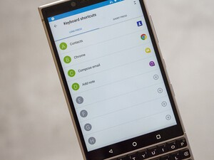 How to set up keyboard shortcuts on the BlackBerry KEY2
