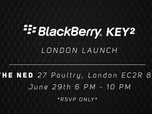 RSVP now to attend the BlackBerry KEY2 London launch event!
