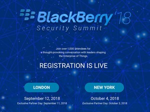 Reminder: Register for BlackBerry's 2018 Security Summits in London and NYC