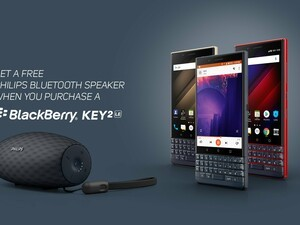 Purchase a BlackBerry KEY2 LE and receive a free Philips Ever Play speaker!