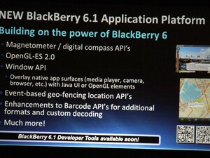 BlackBerry 6.1 Application Platform Announced at DevCon Asia!