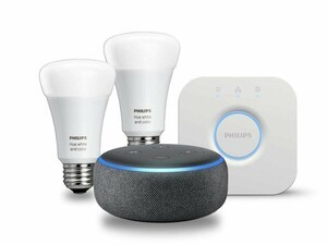 Save big on bundled Philips Hue smart lighting and Amazon's Echo devices