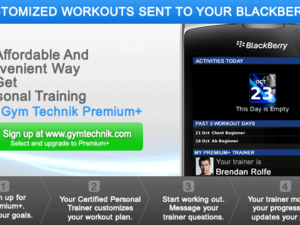 Online Personal Training comes to BlackBerry via Gym Technik
