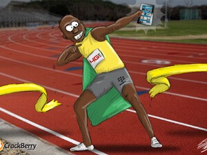 Usain Bolt - Fastest BlackBerry User Alive