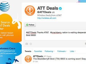 AT&T tweets that the BlackBerry Bold 9900 is coming soon!