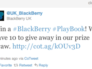 BlackBerry UK giving away 10 PlayBooks in prize draw!