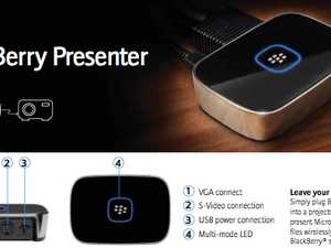 Introducing the BlackBerry Presenter - New Bluetooth Accessory from RIM Delivers Presentations Wirelessly