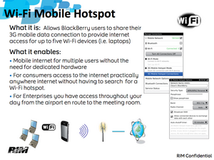 Take a look at BlackBerry Mobile HotSpot and tethering for OS 6.1