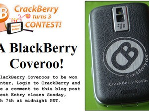 CrackBerry Turns 3 Birthday Contest: Win a Coveroo for your BlackBerry - Ten to be Won!