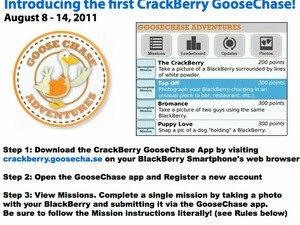 Updated: Win a BlackBerry 7 Smartphone and more in the first ever CrackBerry GooseChase! It's a BlackBerry Photo Adventure!!