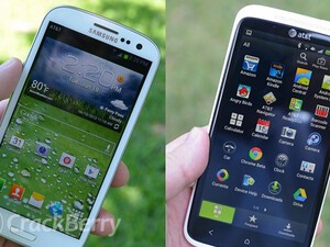 Is that a Samsung Galaxy S3? BlackBerry needs to make sure they don't pull a HTC