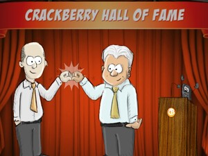With best wishes to Mike and Jim, from CrackBerry