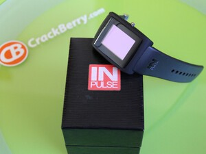 *Beta* Allerta inPulse Smartwatch for BlackBerry Shows Up On Video (and yes, of course CrackBerry has one too)