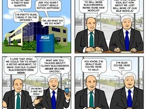 Joy of Tech takes on BlackBerry again... funny cartoon!