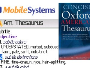 MSDict Concise Oxford American Thesaurus v5.10