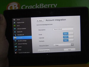 Friday Fun Pics: Native Email and more running on CrackBerry Kevin's BlackBerry PlayBook!