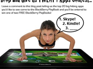 Contest: Tell us the 20 apps you'd like to see come to the PlayBook and you could win 1 of 2 FREE BlackBerry PlayBooks!