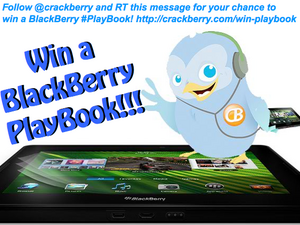and the Winner of CrackBerry's BlackBerry PlayBook Twitter Contest is....