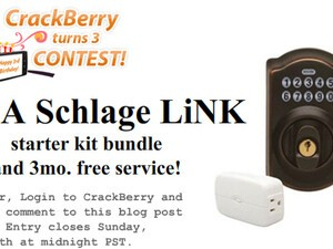 CrackBerry Turns 3 Birthday Contest: Win a Schlage LiNK Starter Kit and 3 Months Free Service!