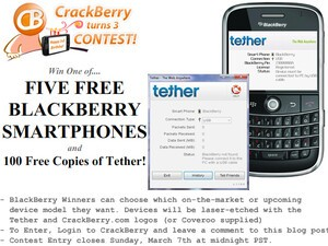 CrackBerry Turns 3 Birthday Contest: FIVE BlackBerry Smartphones and ONE HUNDRED Copies of Tether to be Won!!!