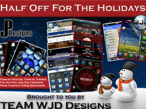 Half Off for the Holidays: 50% Off All BlackBerry Themes from WJD and JP Designs Until the End of 2009