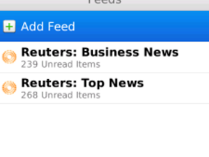 RIM launches BlackBerry News Feeds beta