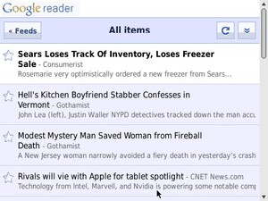 Google Reader iPhone WebApp Works for BlackBerry Smartphones ... Sort Of