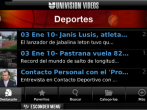 Univision Videos App Streams Top-Rated Programs to Your BlackBerry Smartphone