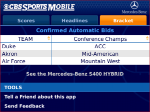 Don't Miss a Beat with CBS Sports Men's College Tourney for BlackBerry