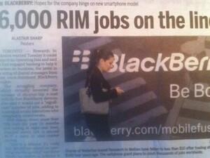 6,000 RIM jobs on the line