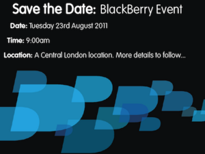 Another BlackBerry UK press event being held on August 23rd