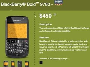 BlackBerry Bold 9780 now available from WIND Mobile