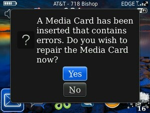 Did You Know Your BlackBerry Memory Card Could Repair Itself?