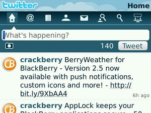 Setting up Twitter for BlackBerry