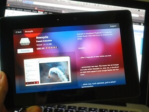 Newspile - A Google Reader client for your BlackBerry PlayBook