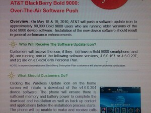 BlackBerry Bold 9000 OTA Update Coming May 18th ... to OS 4.6.0.304?!?