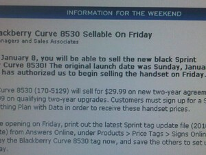 Sprint 8530 Available at RadioShack Today?