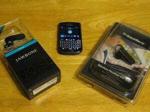 Bluetooth Headset Head to Head: BlackBerry HS-500 vs. Jawbone Prime
