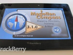Magellan Compass for Blackberry PlayBook updated  with some new features