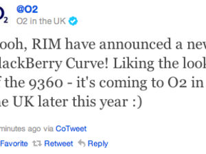 O2 UK confirms it will stock the BlackBerry Curve 9360