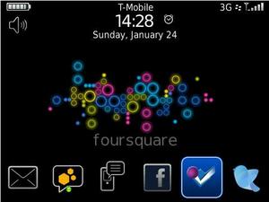 Foursquare for BlackBerry: I'm At CrackBerry.com