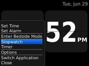 Quick Tip: Keyboard shortcuts in the native Clock application for BlackBerry