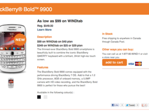 White BlackBerry Bold 9900 now available from WIND Mobile