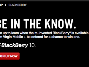 Virgin Mobile opens up BlackBerry 10 pre-registration page