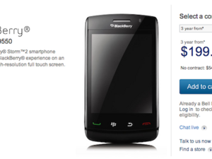 BlackBerry Storm2 9550 Now Available from Bell