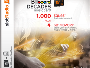 slotRadio+ Music Card - Preloaded Card & 4GB memory for your Verizon BlackBerry - Two cards up for grabs!