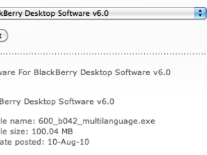 BlackBerry Desktop Manager 6 now available for download