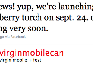 Virgin Mobile Canada launching BlackBerry Torch 9800 September 24th