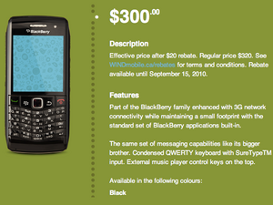 BlackBerry Pearl 3G now available from Wind Mobile