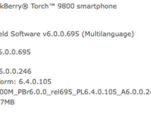Official OS 6.0.0.246 for the BlackBerry Torch 9800 now available from AT&T